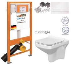 JOMO DUO modul pro závěsné WC s bílou deskou + WC CERSANIT CLEANON COMO + SEDÁTKO (174-91100900-00 CO1)