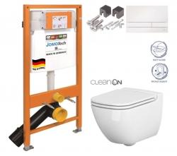 SET JOMO Duofix modul pro závěsné WC + tlačítko + montážní sada + sedátko + WC CERSANIT CLEANON CASPIA (174-91100900-00 CP1)