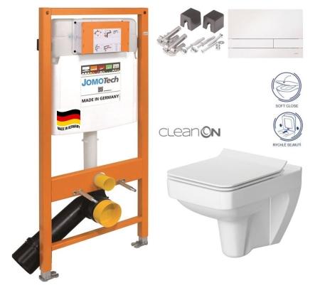 SET JOMO Duofix modul pro závěsné WC + tlačítko + montážní sada + sedátko + WC CERSANIT CLEANON SPLENDOUR (174-91100900-00 SP1)
