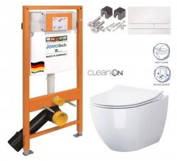 SET JOMO Duofix modul pro závěsné WC + tlačítko + montážní sada + sedátko + WC CERSANIT CLEANON URBAN HARMONY (174-91100900-00 HA1)