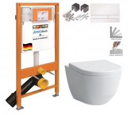 JOMO DUO modul pro závěsné WC s bílou deskou + WC LAUFEN PRO + SEDÁTKO (174-91100900-00 LP3)