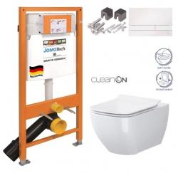 SET JOMO Duofix modul pro závěsné WC + tlačítko + montážní sada + sedátko + WC CERSANIT CLEANON METROPOLITAN (174-91100900-00 ME1)