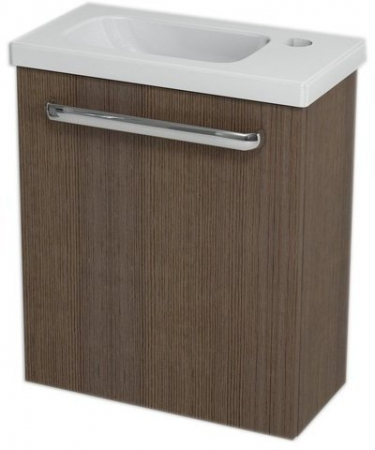 LATUS VII umyvadlová skříňka 43,2x50x21,2 cm, borovice rustik + umývátko RESORT 45cm (55912-SET) - SAPHO