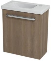 LATUS VII umyvadlová skříňka 43,2x50x21,2 cm, ořech bruno + umývátko RESORT 45cm (55913-SET) - SAPHO