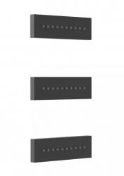 TRES - 3 zapuštěné hydromasážní trysky 140x45mm. Materiál Mosaz. (29951504NM)