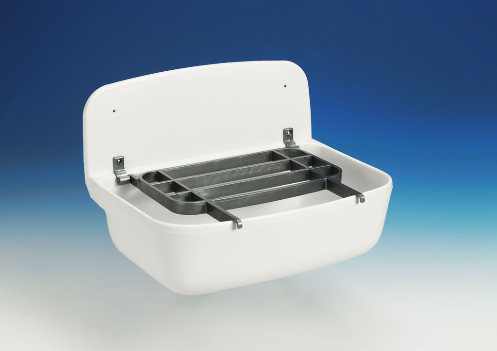 GLYNWED Sanit nástěnná výlevka bílá 49x35x22cm bez mřížky, nástěnné umyvadlo 60001010099 60001010099