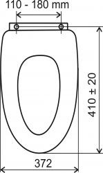 NOVASERVIS - Sedátko tvarované dřevo Lyra (WC/SOFTORECHLY), fotografie 2/2