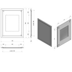 SAPHO - LARGO zrcadlo v rámu 700x900x28mm, dub benátský (LA714), fotografie 2/1