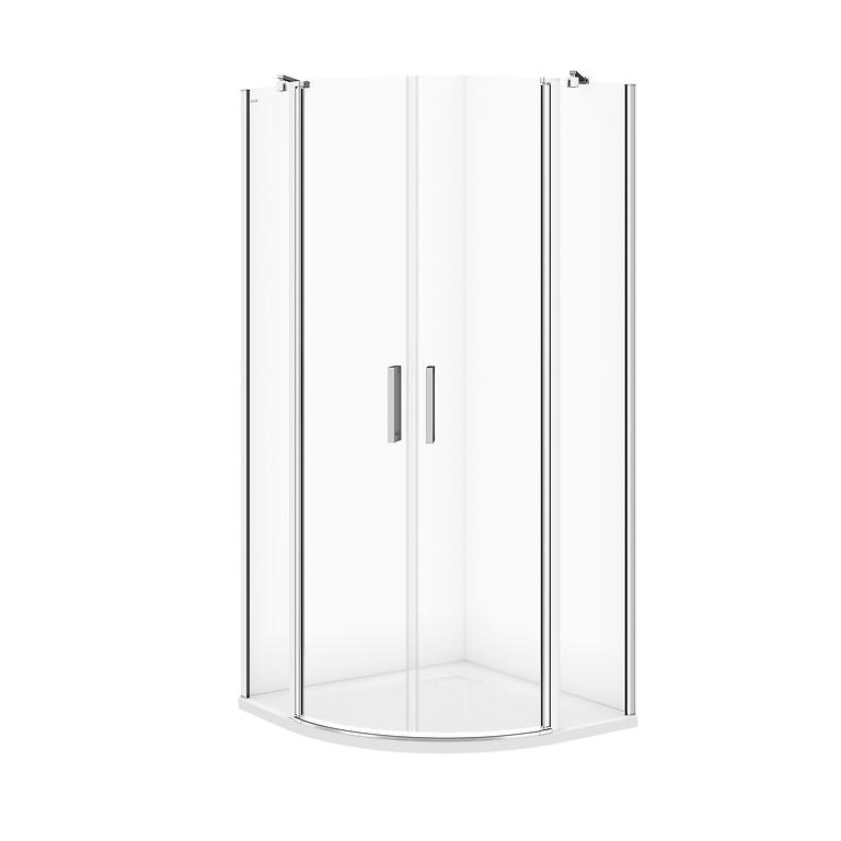 CERSANIT Sprchový kout MODUO čtvrtkruh 90x195, kyvné, čiré sklo S162-010