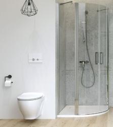 Sprchový kout MODUO čtvrtkruh 90x195, kyvné, čiré sklo (S162-010), fotografie 4/7
