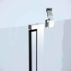 Sprchový kout MODUO čtvrtkruh 90x195, kyvné, čiré sklo (S162-010), fotografie 6/7