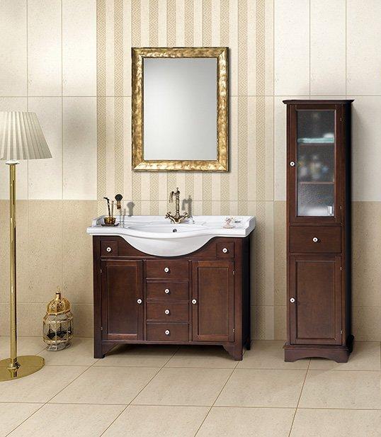 Gallo Wood Koupelnový set GALANTA ORCHIDEA 100, mahagon KSET-026