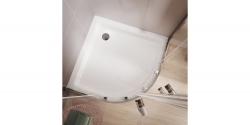 Sprchový kout čtvrtkruh 80 x190, R55, posuv, čiré sklo (S154-001), fotografie 8/5