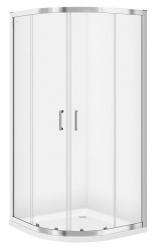 CERSANIT - Sprchový kout čtvrtkruh 80 x190, R55, posuv, čiré sklo (S154-001)