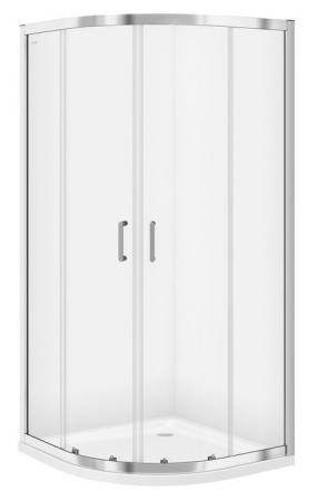 Sprchový kout čtvrtkruh 80 x190, R55, posuv, čiré sklo (S154-001)