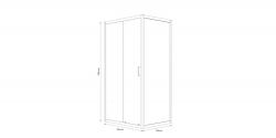 Sprchový kout obdélník 100x80x190, posuv, čiré sklo (S154-003), fotografie 6/8