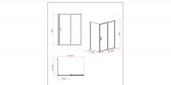 Sprchový kout obdélník 100x80x190, posuv, čiré sklo (S154-003), fotografie 4/8