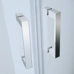 Sprchový kout BASIC čtvrtkruh 80x185, posuv, čiré sklo (S158-003), fotografie 2/2