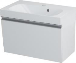 MELODY umyvadlová skříňka 60x38x34cm + um. JOY 60cm, bílá (56051-SET) - SAPHO