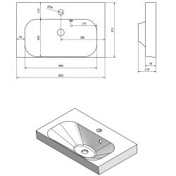 SAPHO - MELODY umyvadlová skříňka 60x38x34cm + um. JOY 60cm, bílá (56051-SET), fotografie 4/6