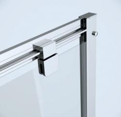 Sprchové dveře BASIC 90x185, kyvné, čiré sklo (S158-002), fotografie 2/3