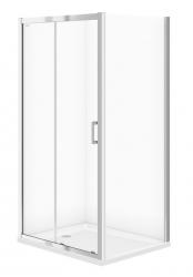 CERSANIT - Sprchový kout BASIC obdélník 100x80x185, posuv, čiré sklo (S158-006)