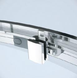 Sprchový kout ARTECO čtvrtkruh 90x190, posuv, čiré sklo (S157-002), fotografie 6/4