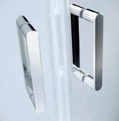 Sprchové dveře ARTECO 80x190, kyvné, čiré sklo (S157-007), fotografie 2/3