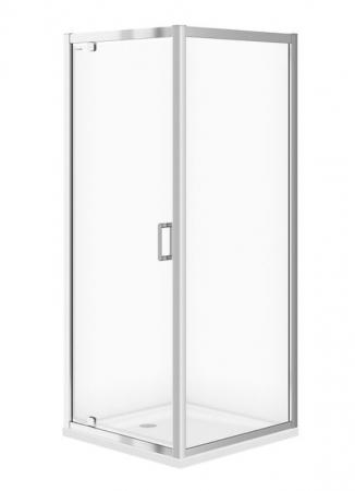 Sprchový kout ARTECO čtverec 80x190, kyvný, čiré sklo (S157-009)