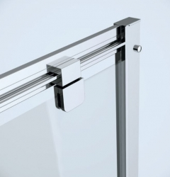 Sprchový kout ARTECO čtverec 80x190, kyvný, čiré sklo (S157-009), fotografie 2/2