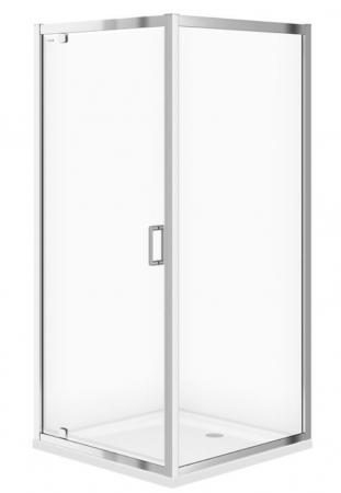 Sprchový kout ARTECO čtverec 90x190, kyvný, čiré sklo (S157-010)