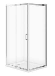 CERSANIT - Sprchový kout ARTECO obdélník 100x80x190, posuv, čiré sklo (S157-011)