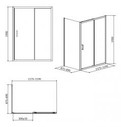 Sprchový kout ARTECO obdélník 120x90x190, posuv, čiré sklo (S157-012), fotografie 8/4
