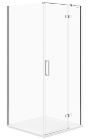 Sprchový kout JOTA čtverec 90x195, kyvný, pravý, čiré sklo (S160-002)