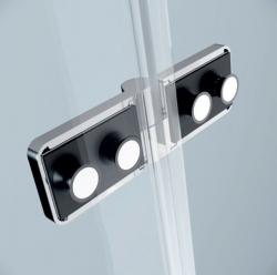 Sprchový kout JOTA čtverec 90x195, kyvný, pravý, čiré sklo (S160-002), fotografie 6/9