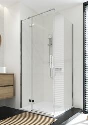 Sprchový kout JOTA čtverec 90x195, kyvný, pravý, čiré sklo (S160-002), fotografie 14/9