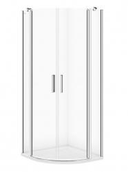 CERSANIT - Sprchový kout MODUO čtvrtkruh 80x195, kyvné, čiré sklo (S162-009)