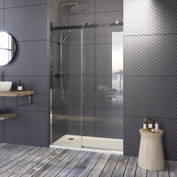 Aquatek - TEKNOSOFT B2 115 - Luxusní sprchové dveře zasouvací 112-116cm, sklo 8mm (TEKNOSOFTB2115)