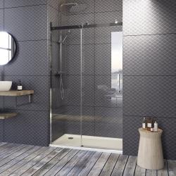 Aquatek - TEKNOSOFT B2 125 - Luxusní sprchové dveře zasouvací 122-126cm, sklo 8mm (TEKNOSOFTB2125)