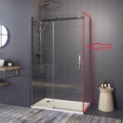 Aquatek - TEKNOSOFT F1 90 - pevná boční stěna do kombinace s dveřmi, 87-89 cm, sklo 8mm (TEKNOSOFTF190)