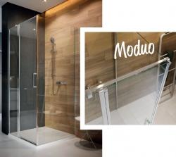 Kyvné dveře s pevným polem MODUO 90x195, levé, čiré sklo (S162-005), fotografie 4/5