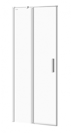Kyvné dveře s pevným polem MODUO 80x195, levé, čiré sklo (S162-003)