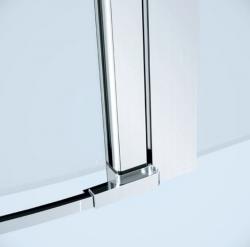 Kyvné dveře s pevným polem MODUO 80x195, levé, čiré sklo (S162-003), fotografie 2/5