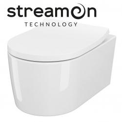 CERSANIT - Závěsná WC mísa INVERTO se systémem STREAM ON, bez sedátka (K671-001)