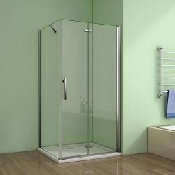 H K - Obdélníkový sprchový kout MELODY 120x80 cm se zalamovacími dveřmi včetně sprchové vaničky z litého mramoru (SE-MELODYB812080/SE-ROCKY12080)