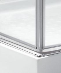 Aquatek - TEKNO R14 Chrom Luxusní sprchová zástěna obdélníková 100x80cm , sklo 8mm, varianta levá, výška 195 cm (TEKNOR14-130), fotografie 8/4