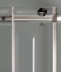 Aquatek - TEKNO R14 Chrom Luxusní sprchová zástěna obdélníková 100x80cm , sklo 8mm, varianta levá, výška 195 cm (TEKNOR14-130), fotografie 4/4