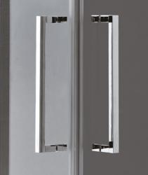 Aquatek - TEKNO R14 Chrom Luxusní sprchová zástěna obdélníková 100x80cm , sklo 8mm, varianta levá, výška 195 cm (TEKNOR14-130), fotografie 6/4