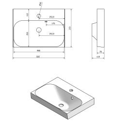 SAPHO - MELODY umyvadlová skříňka 50x38x34cm + um. JOY 50cm, bílá (56050-SET), fotografie 4/6