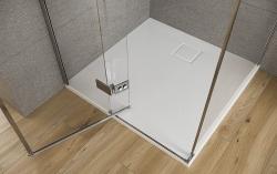 Sprchové dveře s panty CREA 100x200, levé, čiré sklo (S159-001), fotografie 10/7
